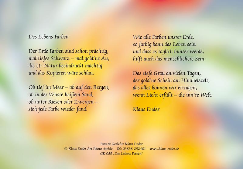 Gedicht-Grusskarten von Klaus Ender