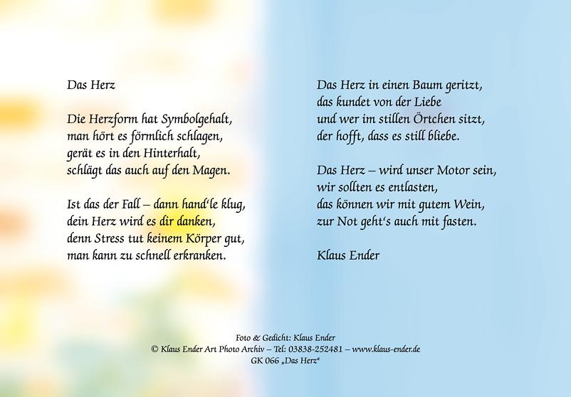 Gedicht Grusskarten Von Klaus Ender